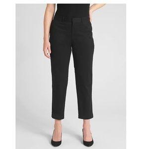 NWT Gap Curvy Slim City Crop Pants 10 Black c153